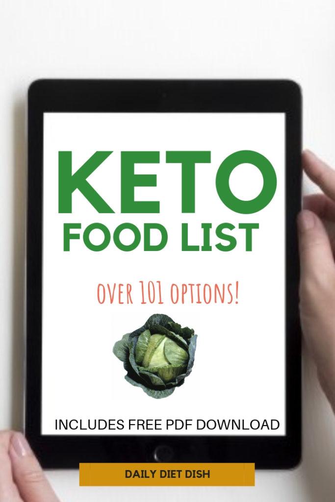 keto diet food list with pdf printable