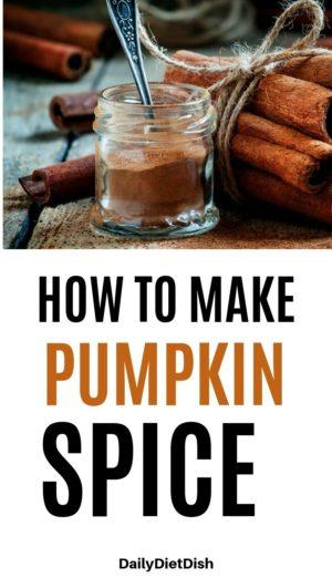 how to make pumpkin pie spice diy