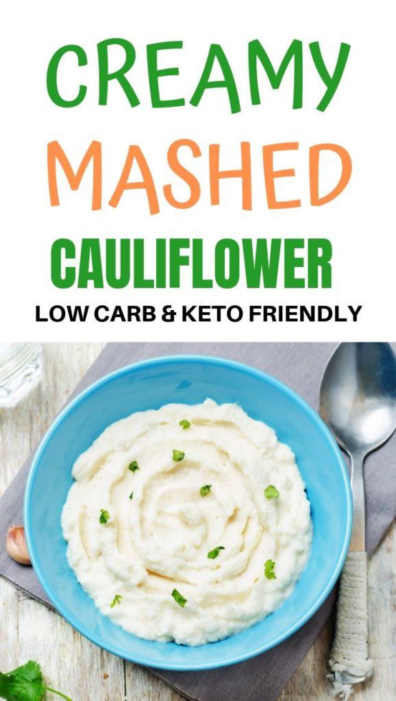 Creamy mashed cauliflower low carb keto recipe