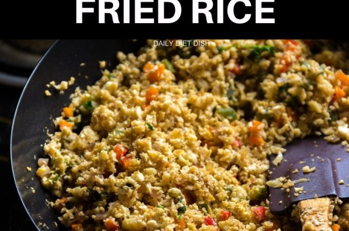 How to make cauliflower rice- cauliflower fried rice recipe low carb