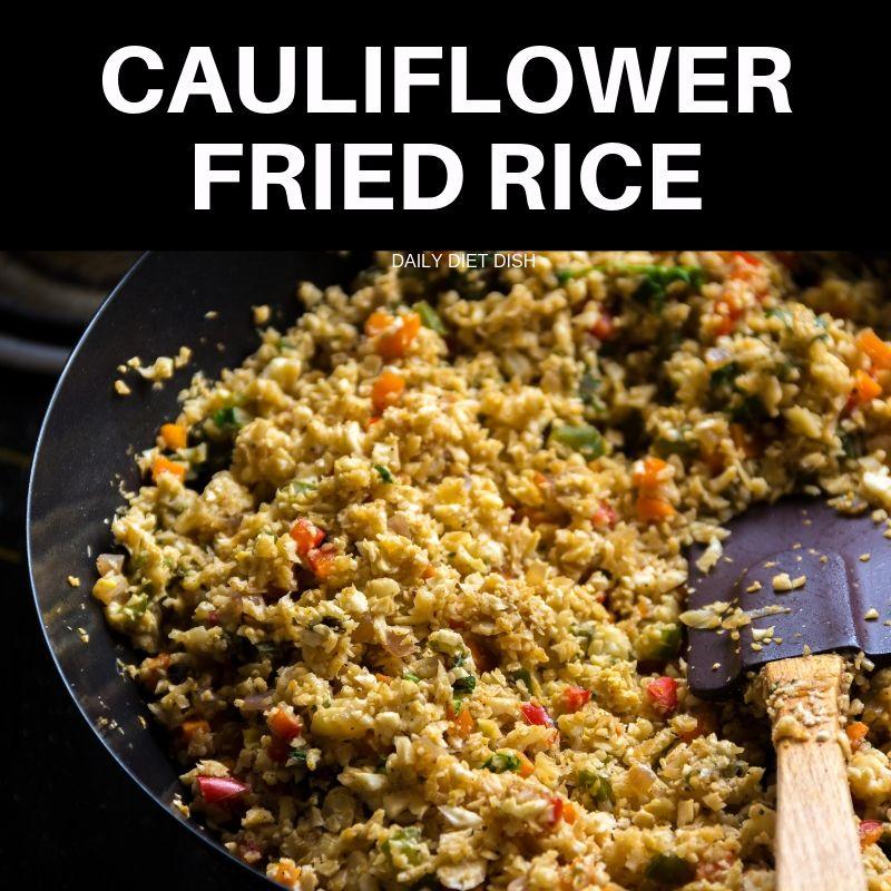 How to make cauliflower rice- cauliflower fried rice recipe low carb