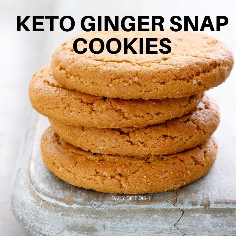 low carb keto ginger snap cookies