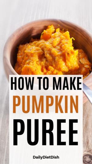 how to make pumpkin puree easy