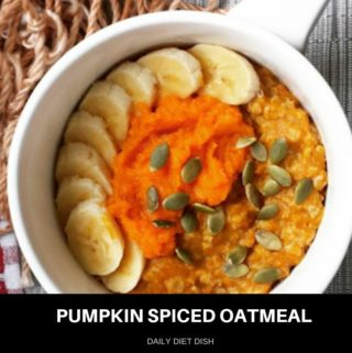 pumpkin spiced oatmeal recipe